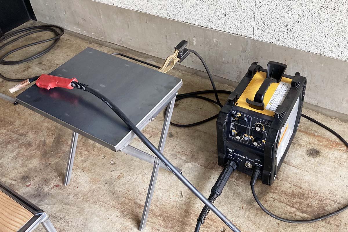溶接教室の溶接機